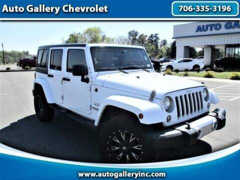 2016 Jeep Wrangler Unlimited for sale at Auto Gallery Chevrolet in Commerce GA