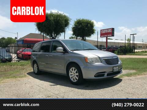 2014 Chrysler Town and Country for sale at CARBLOK in Lewisville TX