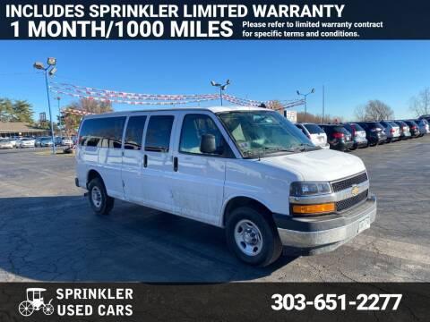 2018 Chevrolet Express Passenger for sale at Sprinkler Used Cars in Longmont CO