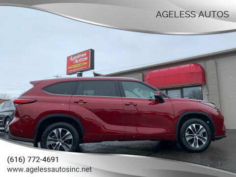 2020 Toyota Highlander for sale at Ageless Autos in Zeeland MI