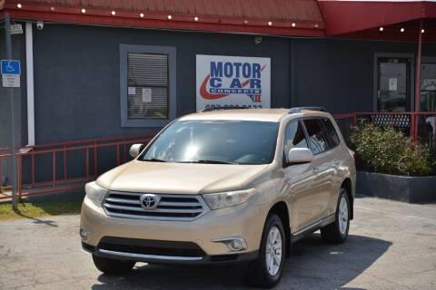 2011 Toyota Highlander for sale at Motor Car Concepts II - Kirkman Location in Orlando FL