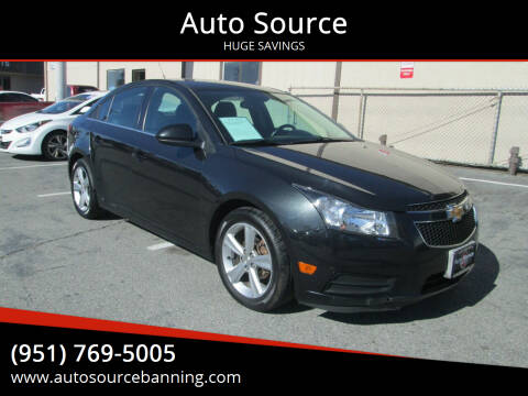 2014 Chevrolet Cruze for sale at Auto Source in Banning CA