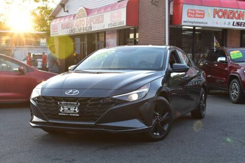 2021 Hyundai Elantra for sale at Foreign Auto Imports in Irvington NJ