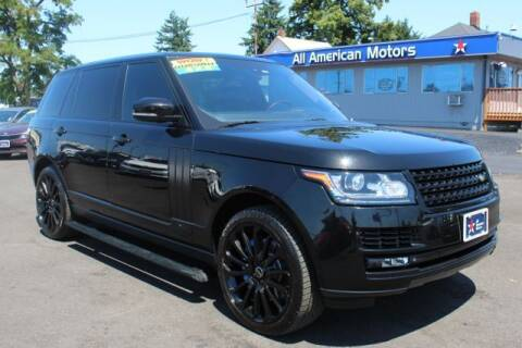 2014 Land Rover Range Rover for sale at All American Motors in Tacoma WA
