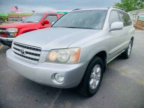 2003 Toyota Highlander for sale at BRYANT AUTO SALES in Bryant AR
