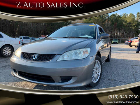 2004 Honda Civic for sale at Z Auto Sales Inc. in Rocky Mount NC