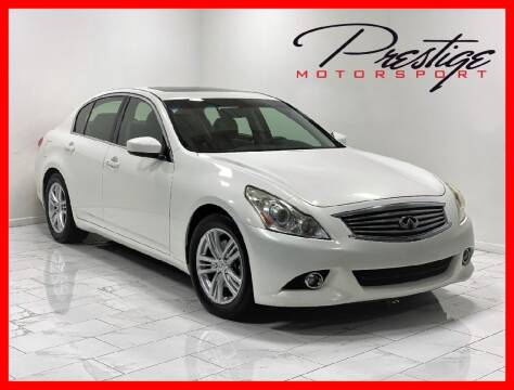 2013 Infiniti G37 Sedan for sale at Prestige Motorsport in Rancho Cordova CA