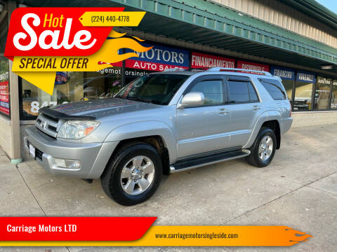 2004 Toyota 4Runner for sale at Carriage Motors LTD in Ingleside IL