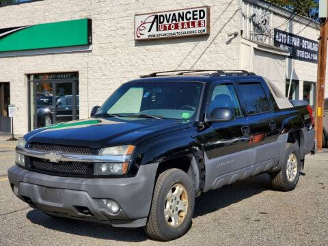2003 Chevrolet Avalanche for sale at Advanced Auto Sales in Tewksbury MA