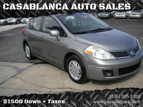 2009 Nissan Versa for sale at CASABLANCA AUTO SALES in Greensboro NC