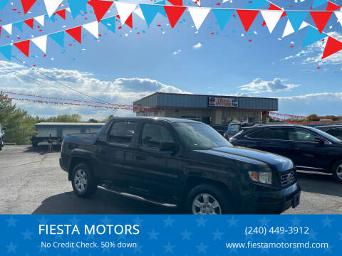 2006 Honda Ridgeline for sale at FIESTA MOTORS in Hagerstown MD