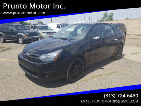 2010 Ford Focus for sale at Prunto Motor Inc. in Dearborn MI