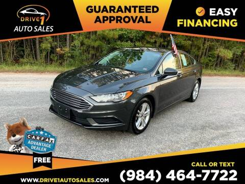 2018 Ford Fusion for sale at Drive 1 Auto Sales in Wake Forest NC