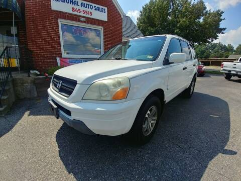 2004 Honda Pilot for sale at Regional Auto Sales in Madison Heights VA