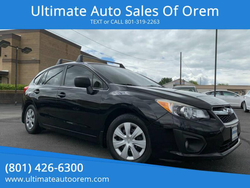 2013 Subaru Impreza for sale at Ultimate Auto Sales Of Orem in Orem UT