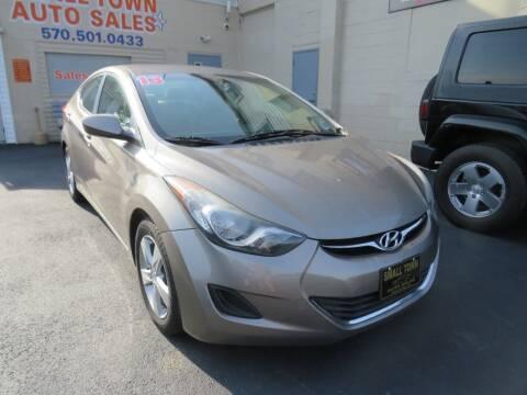 2013 Hyundai Elantra for sale at Small Town Auto Sales in Hazleton PA