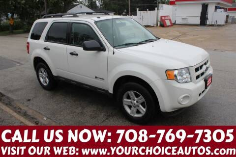 2009 Ford Escape Hybrid for sale at Your Choice Autos in Posen IL