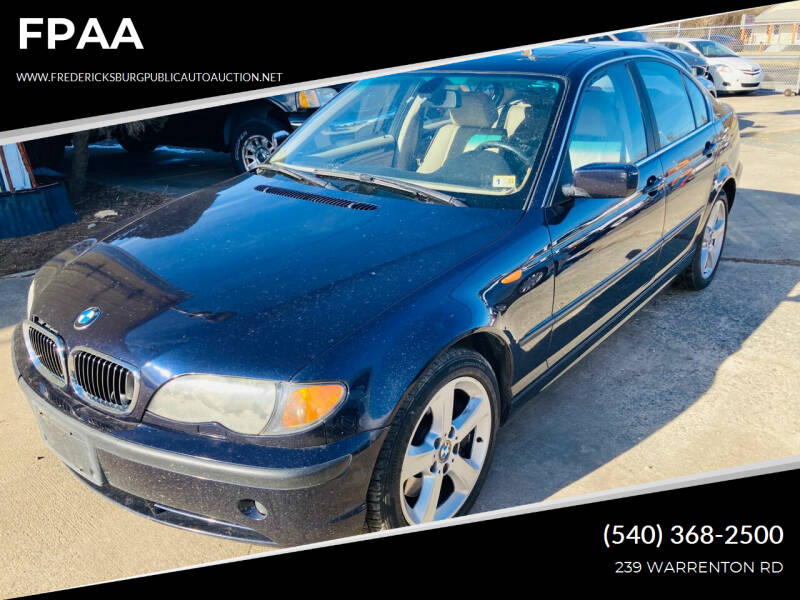 2004 BMW 3 Series for sale at FPAA in Fredericksburg VA