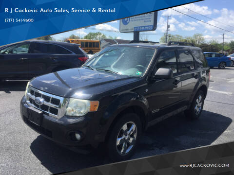 2008 Ford Escape for sale at R J Cackovic Auto Sales, Service & Rental in Harrisburg PA