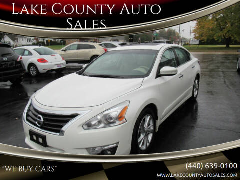 2015 Nissan Altima for sale at Lake County Auto Sales in Painesville OH