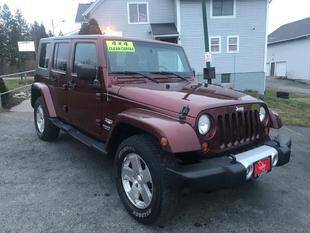 2010 Jeep Wrangler Unlimited for sale at FUSION AUTO SALES in Spencerport NY