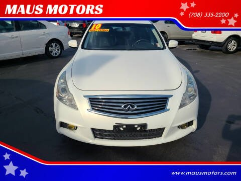 2010 Infiniti G37 Sedan for sale at MAUS MOTORS in Hazel Crest IL