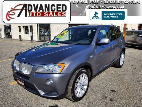 2014 BMW X3 for sale at Advanced Auto Sales in Tewksbury MA