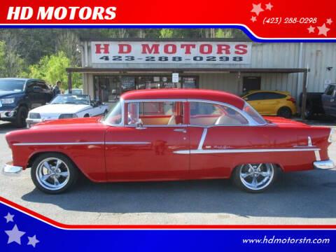 1955 Chevrolet 2 Door Hardtop for sale at HD MOTORS in Kingsport TN