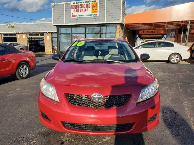 2010 Toyota Corolla for sale at North Chicago Car Sales Inc in Waukegan IL