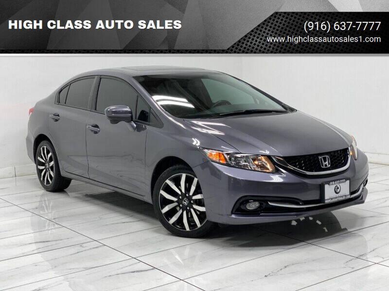 2015 Honda Civic for sale at HIGH CLASS AUTO SALES in Rancho Cordova CA