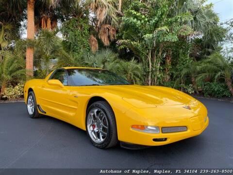 2002 Chevrolet Corvette for sale at Autohaus of Naples in Naples FL