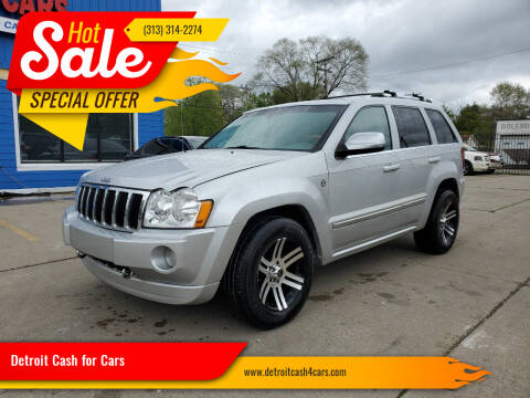 2006 Jeep Grand Cherokee for sale at Detroit Cash for Cars in Warren MI