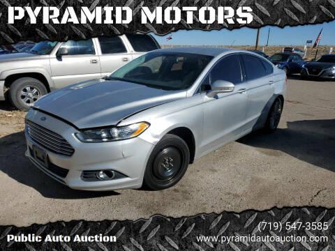 2014 Ford Fusion for sale at PYRAMID MOTORS - Pueblo Lot in Pueblo CO