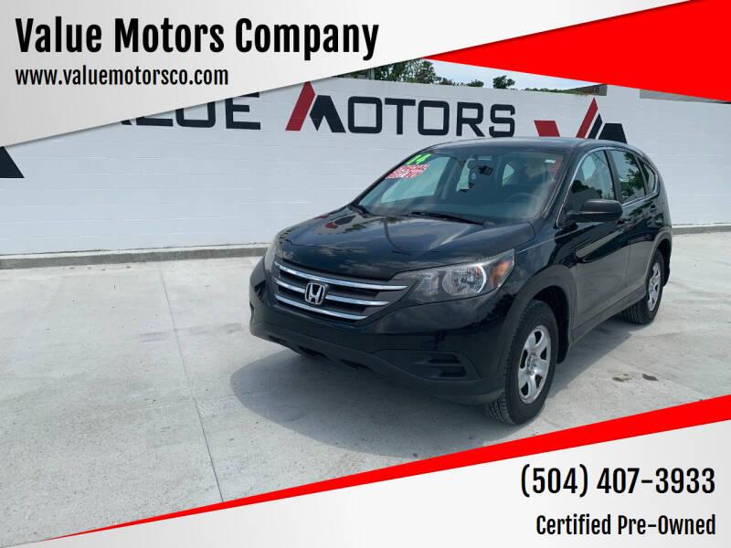 2014 Honda CR-V for sale at Value Motors Company in Marrero LA