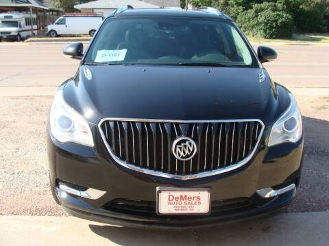 2017 Buick Enclave for sale at DeMers Auto Sales in Winner SD