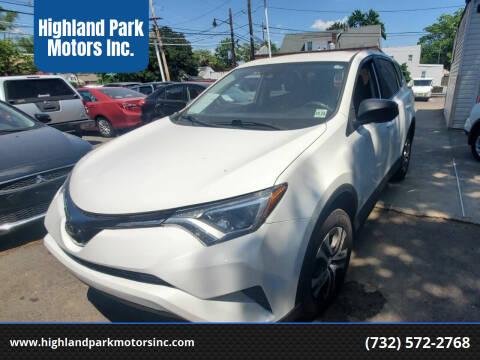 2018 Toyota RAV4 for sale at Highland Park Motors Inc. in Highland Park NJ