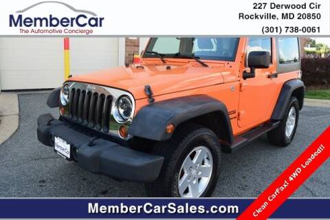 2012 Jeep Wrangler for sale at MemberCar in Rockville MD