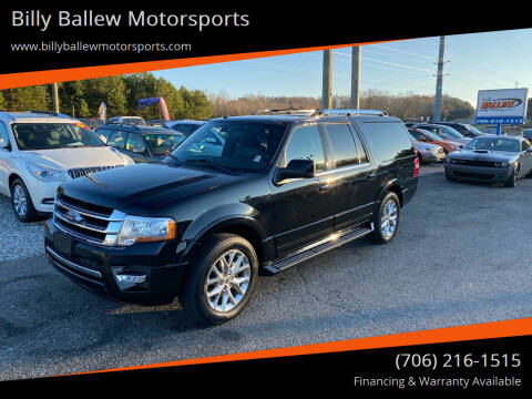 2017 Ford Expedition EL for sale at Billy Ballew Motorsports in Dawsonville GA