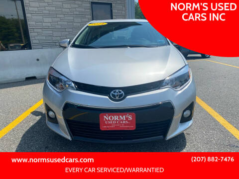2014 Toyota Corolla for sale at NORM'S USED CARS INC in Wiscasset ME