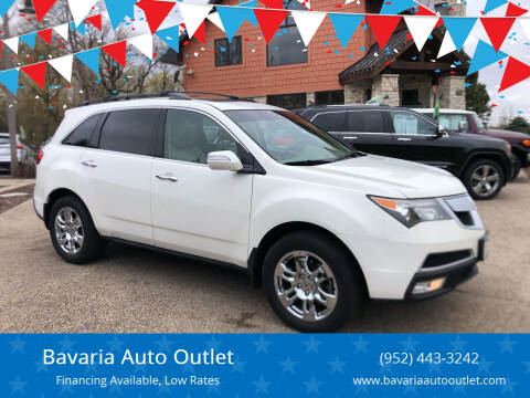 2010 Acura MDX for sale at Bavaria Auto Outlet in Victoria MN