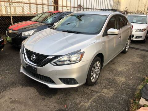2016 Nissan Sentra for sale at Giordano Auto Sales in Hasbrouck Heights NJ