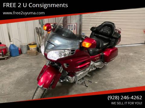2003 Honda Goldwing for sale at FREE 2 U Consignments in Yuma AZ