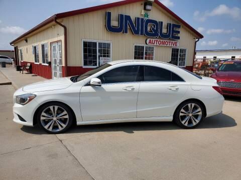 """2014 Mercedes-Benz CLA for sale at UNIQUE AUTOMOTIVE """"BE UNIQUE"""" in Garden City KS"""