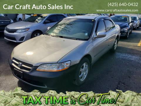 1999 Honda Accord for sale at Car Craft Auto Sales Inc in Lynnwood WA