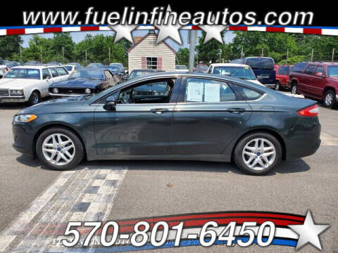 2016 Ford Fusion for sale at FUELIN FINE AUTO SALES INC in Saylorsburg PA