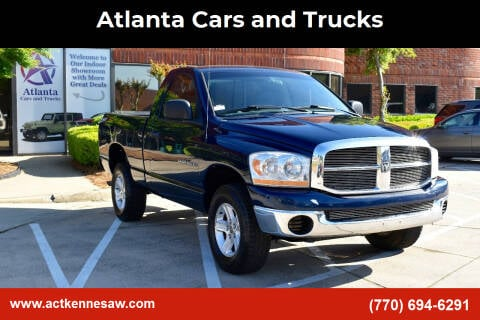 2006 Dodge Ram Pickup 1500 for sale at Atlanta Cars and Trucks in Kennesaw GA