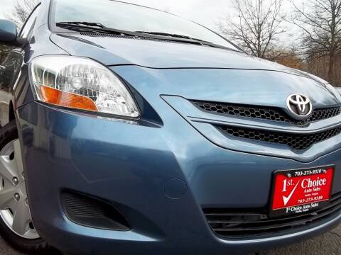 2008 Toyota Yaris for sale at 1st Choice Auto Sales in Fairfax VA