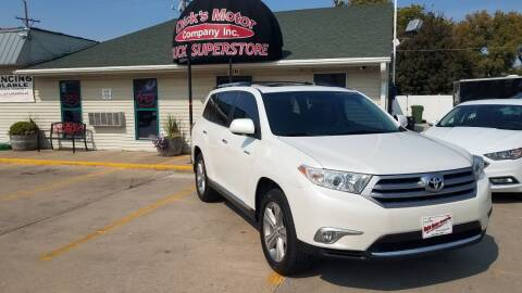 2013 Toyota Highlander for sale at DICK'S MOTOR CO INC in Grand Island NE