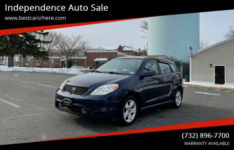 2003 Toyota Matrix for sale at Independence Auto Sale in Bordentown NJ