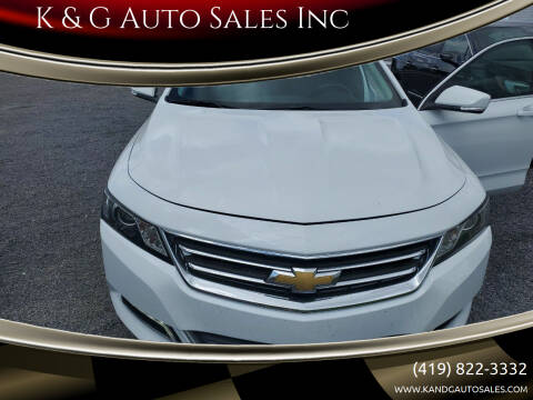 2019 Chevrolet Impala for sale at K & G Auto Sales Inc in Delta OH